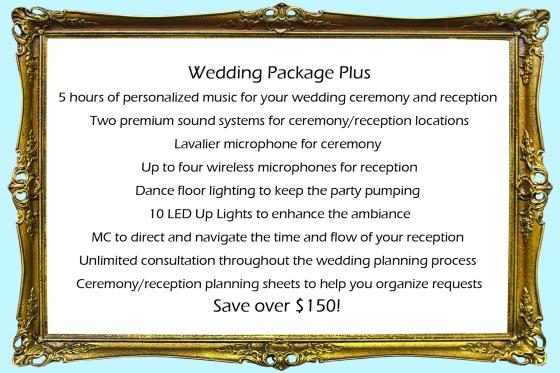 Wedding Package Plus